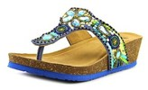 White Mountain Brightspot Open Toe Suede Wedge Sandal.