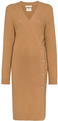 Bottega Veneta brushed wrap long-line cardigan