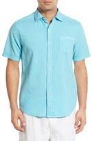 Tommy Bahama Men's Big & Tall 'Corvair Cruiser' Seersucker Short Sleeve Sport Shirt