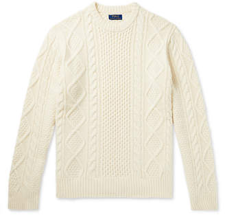Polo Ralph Lauren Cable-Knit Wool And Cashmere-Blend Sweater