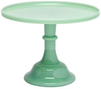 """Mosser Glass Cake Plate - Jadeite 6"""""""