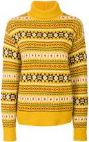Joseph fair isle turtleneck sweater