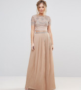 Maya Pleated Maxi Skirt With Embellished Waistband