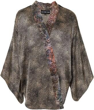 Lisa Von Tang Panelled Draped Jacket
