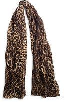Ralph Lauren Leopard-Print Cashmere Scarf