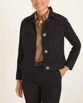 Chico's Chicos Cropped Patch-Pocket Jacket