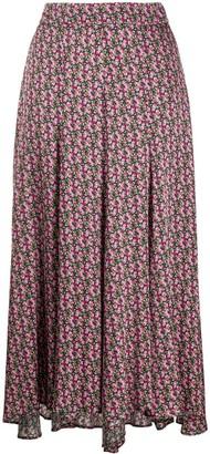 Simonetta Ravizza Floral Flared Midi Skirt