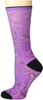 Smartwool Hike Light Down The River Print Crew (Desert Orchid) Women's Crew Cut Socks Shoes