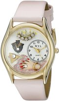 Whimsical Watches Women's C0910013 Classic Gold Jewelry Lover Pink Pink Leather And Goldtone Watch