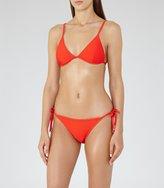 Reiss Phoenix T - Ribbed Bikini Top in Red, Womens