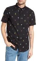 Globe Men's Pin Up Print Woven Shirt