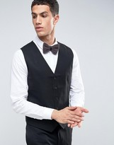 French Connection Black Tuxedo Slim Fit Vest