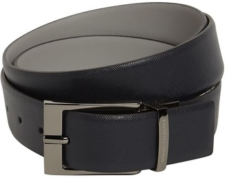 Armani Exchange 3.5cm Reversible Saffiano Leather Belt