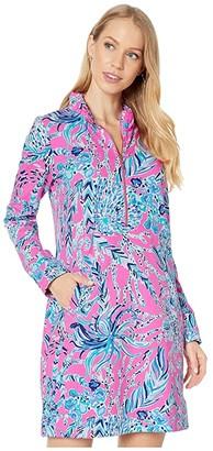 Lilly Pulitzer UPF 50+ Skipper Ruffle Dress (Mandevilla Pink New Kids On The Dock) Women's Dress