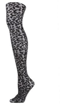Me Moi Women's Leopard Print Shimmer Sheer Tights