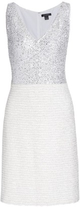 St. John Sequin Bodice Sheath Dress