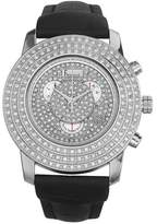 Freelook Women's HA2711-1 Glamour Round Swarovski Bezel Black Leather Band Watch