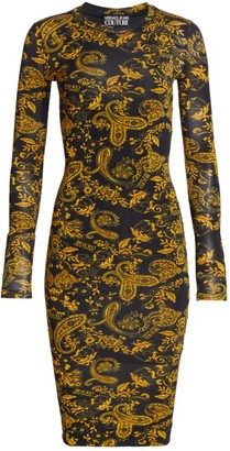 Versace Ravanello Paisley Bodycon Dress