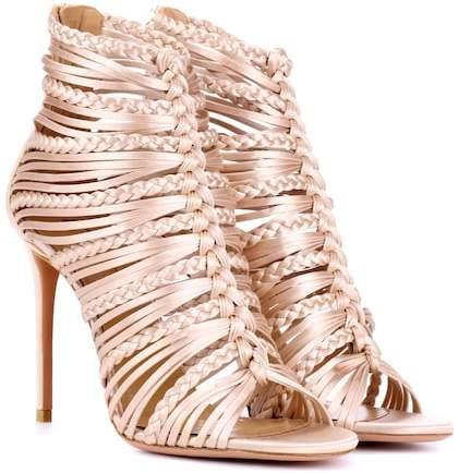 Aquazzura Goddess 105 satin sandals