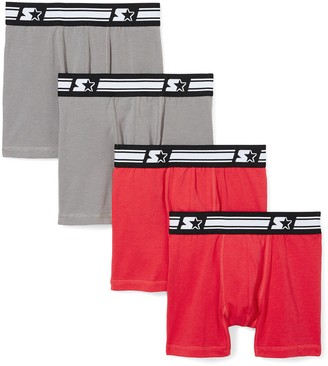 Starter Boys' 4-Pack Stretch Performance Cotton Boxer Brief Amazon Exclusive