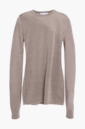Duffy Burnout-effect Linen-blend Sweater
