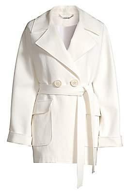 Elie Tahari Women's Amelie Crinkle Linen-Blend Belted Jacket