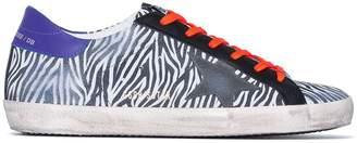 Golden Goose Multicoloured Superstar zebra suede leather sneakers