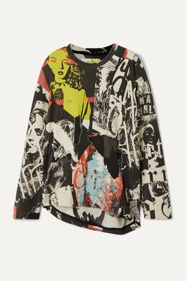 Marques Almeida Printed Devore Cotton-blend Jersey Sweatshirt - Black