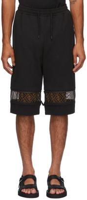 Fendi Black Forever Zip Down Shorts