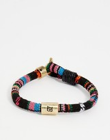 Icon Brand Stripe Woven Bracelet In Multi