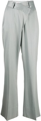 GAUGE81 Cross-Waist Flared Trousers