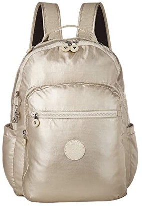 Kipling Seoul Laptop Backpack (Cloud Metal) Backpack Bags