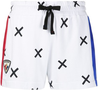 Rossignol x JCC cross print track shorts