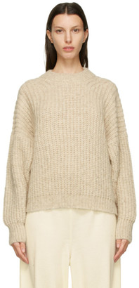 LAUREN MANOOGIAN Beige Alpaca and Wool Fisherwoman Sweater