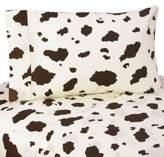 JoJo Designs Sweet Cowgirl Cow Print Twin Sheet Set
