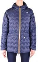 K-Way Women's Blue Polyamide Down Jacket.