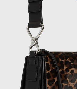 AllSaints Kim Round Leather Crossbody Bag