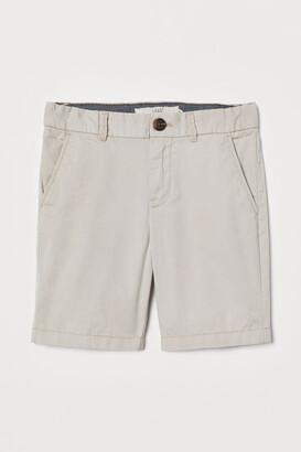 H&M Cotton Chino Shorts - Beige