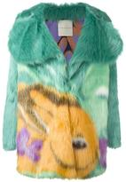 Marco De Vincenzo printed faux fur coat