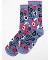 Dorothy Perkins Womens Multi Coloured Large Poppy Socks- Blue