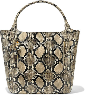 Anya Hindmarch Vere Snake-effect Leather Tote