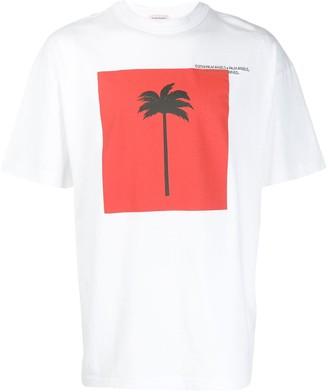 Palm Angels Big Palm print T-shirt