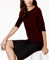 Charter Club Petite Cashmere Graphic Sweater, Created for Macy's