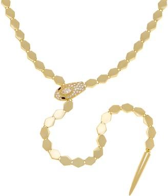 """Melinda Maria Snake Lariat Style 22"""" Necklace - Taylor"""