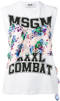MSGM printed tank top - women - Cotton - XS