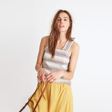 Madewell Apron Button-Back Tank Top in Stripe