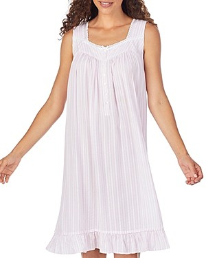 Eileen West Short Striped Chemise Nightgown
