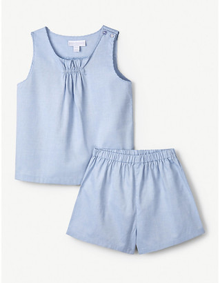 The Little White Company Scallop-trimmed cotton pyjama set 1-6 years
