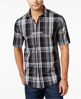 Alfani Men's Plaid Short-Sleeve Shirt, Only at Macy's