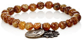 Miracle Icons Men's Garnet Bead & Charm Bracelet